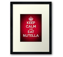 Keep Calm and Eat Nutella Framed Print