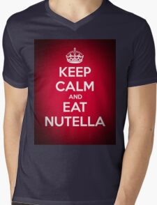 Keep Calm and Eat Nutella Mens V-Neck T-Shirt