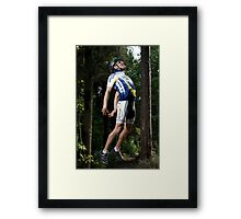 Flying Cyclist Framed Print
