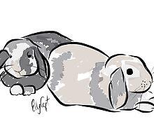 Graphic Art Rabbit 4 by ELLYCAT
