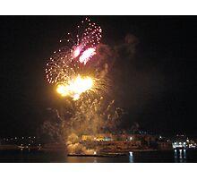 Grand Harbour lit at Night, Valletta, Malta Photographic Print