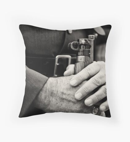 Aged by war Throw Pillow