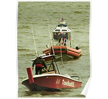 Tow boat gets towed Poster