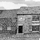 219 - WILLOW TREE INN, NEWSHAM, c.1885 - DAVE EDWARDS - INK - 2009 by BLYTHART