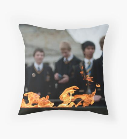 Flipping the coin Throw Pillow