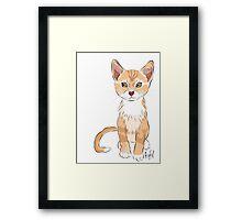 Graphic Art Cat 2 Framed Print