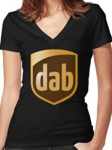Dab Parcel Service  Women's Fitted V-Neck T-Shirt