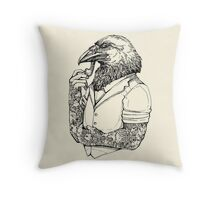 The Crow Man Throw Pillow