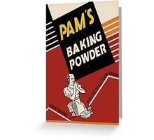 Pam's Baking Powder Poster Greeting Card