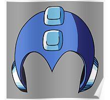 Mega Man Helmet Poster