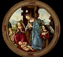 Tommaso - Virgin Adoring the Christ Child with St. John the Baptist and Two Angels by Adam Asar