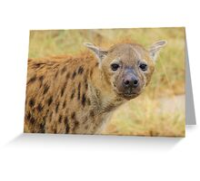 Spotted Hyena - Predator Supreme Greeting Card