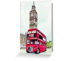 Big Ben and London Bus Greeting Card