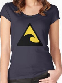 Warning Waves Women's Fitted Scoop T-Shirt