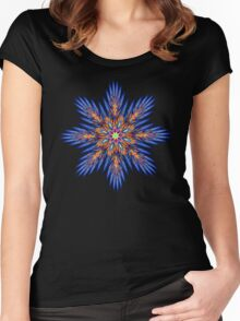 'FeatherFlower 005' Women's Fitted Scoop T-Shirt