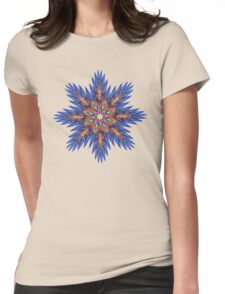 'FeatherFlower 005' Womens Fitted T-Shirt