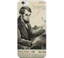 Unidentified artist. This Reminds me of a Little Joke. Wood engraving, published in Harper's Weekly, September 17, 1864 iPhone Case/Skin