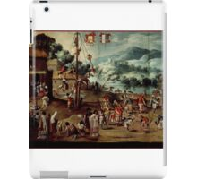 Unknown - Folding Screen with Indian Wedding and Flying Pole (Biombo con desposorio indigena y palo volador) iPad Case/Skin