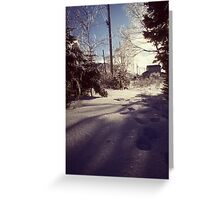 Covered in Glass Greeting Card