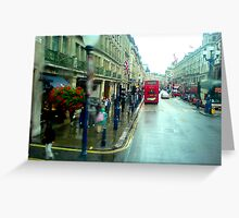 Rain in Regentstreet Greeting Card
