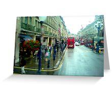Rain in Regentstreet Greeting Card