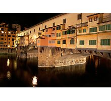 Ponte Vecchio: Night of the Coypu Photographic Print