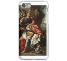 VENETIAN SCHOOL - 18TH CENTURY - THE OFFICERS OF HANNIBAL BARCA ASKING HIM TO FLEE iPhone Case/Skin