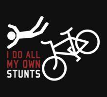Bicycle I Do All My Own Stunts Kids Tee