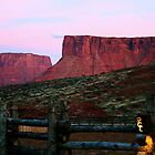 Sunset at Red Cliffs Lodge by Polly Peacock