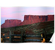 Sunset at Red Cliffs Lodge Poster