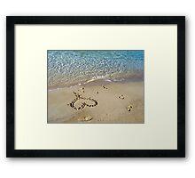 My heart is at the beach Framed Print