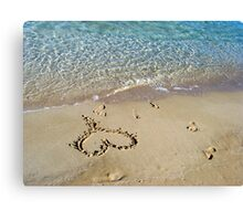 My heart is at the beach Canvas Print