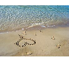 My heart is at the beach Photographic Print