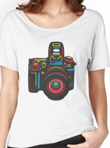 Black Camera Women's Relaxed Fit T-Shirt
