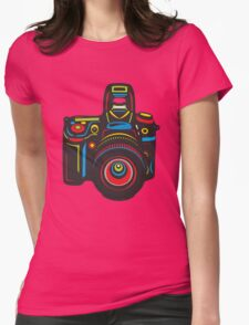 Black Camera Womens Fitted T-Shirt