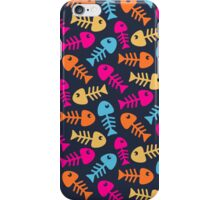 Bright fish bones iPhone Case/Skin