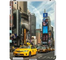 Yellow Taxi Times Square New York iPad Case/Skin