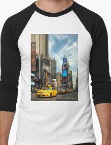 Yellow Taxi Times Square New York Men's Baseball ¾ T-Shirt