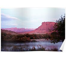 The Colorado River and Sandstone Cliffs Poster