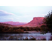 The Colorado River and Sandstone Cliffs Photographic Print