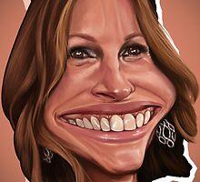 Giulia Roberts caricature by jordygraph