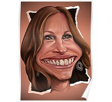 Giulia Roberts caricature Poster