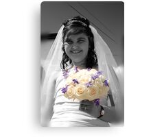 Bride with Flowers Canvas Print