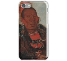Wah-ro-née-sah (The Surrounder), an Otoe chief. Probably painted at Fort Leavenworth in 1832, by George Catlin iPhone Case/Skin