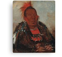 Wah-ro-née-sah (The Surrounder), an Otoe chief. Probably painted at Fort Leavenworth in 1832, by George Catlin Canvas Print