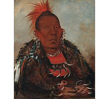 Wah-ro-née-sah (The Surrounder), an Otoe chief. Probably painted at Fort Leavenworth in 1832, by George Catlin Photographic Print