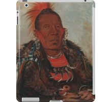 Wah-ro-née-sah (The Surrounder), an Otoe chief. Probably painted at Fort Leavenworth in 1832, by George Catlin iPad Case/Skin