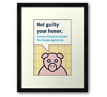 Not Guilty Framed Print