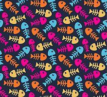 Bright fish bones by AldanNi