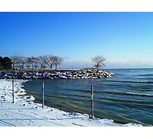 Lake Michigan seen from Northwestern Univ, in Evanston, IL Photographic Print